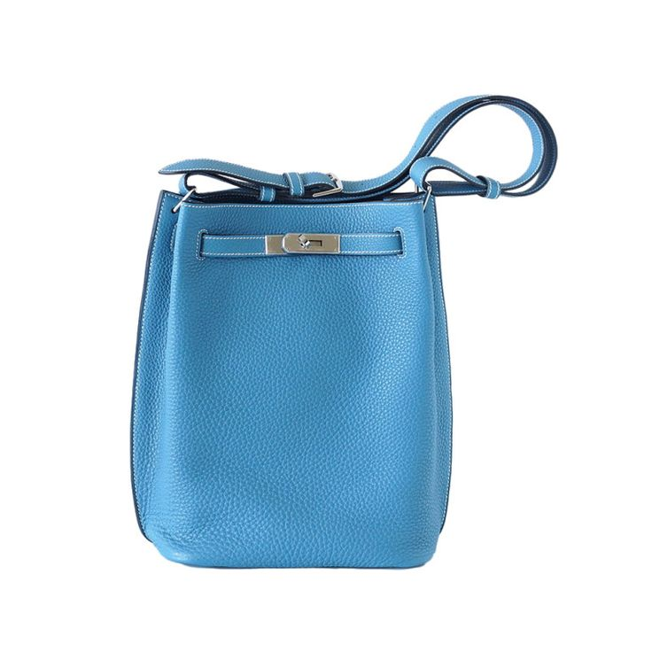 Hermes Kelly SO Kelly bag tote fresh BLUE JEAN palladium