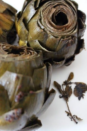 Artichokes Braised with Garlic and Thyme | Food of Course...! | Pinte ...