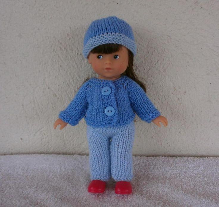 Ensemble au tricot pour mini-Corolline. MCL Poupées