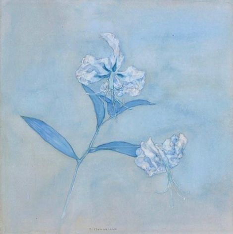 Piet Mondrian, Stalk with Two Japanese Lilies, 1921 on ArtStack #piet-mondrian #art