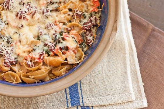 Recipe: Goat Cheese and Swiss Chard Pasta Casserole | Kitchn