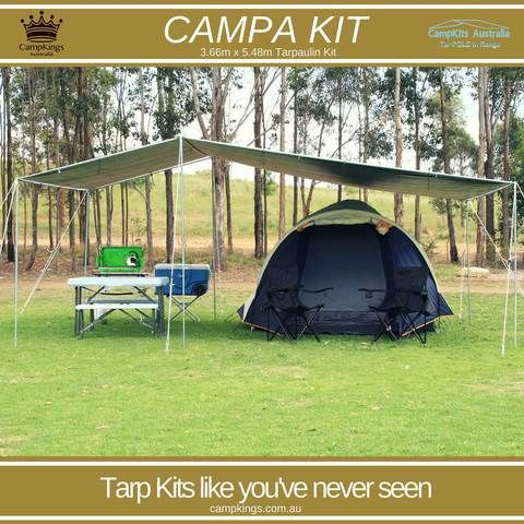 CAMPA KIT | 12Ft x 18Ft | Solo person 30 Minute tarp set up