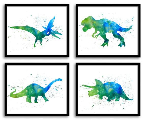 Good Kids Dinosaur Art   Large Trex Painting   Large Wall Art In Customizable  Colors | Maternity And Baby Stuff | Pinterest | Kids Dinosaurs, Paintings  And ...