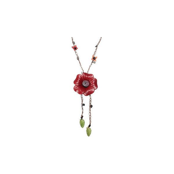 Ethnic Body Jewelry Leather Flower Tassel Long Necklace Waist chain... ($11) ❤ liked on Polyvore featuring jewelry, red, flower jewelry, body jewellery, leather jewelry, tassel jewelry and flower jewellery