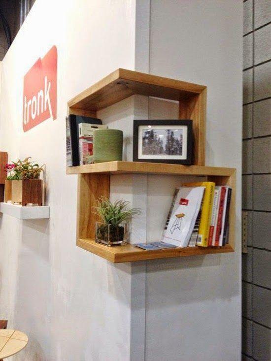 Idea para aprovechar espacios peque os o con una for Ganchos para repisas