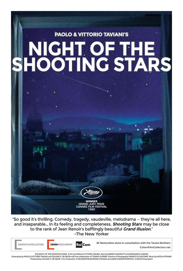The Taviani Brothers' NIGHT OF THE SHOOTING STARS returns to cinemas http://cohenfilmcollection.net/films/night-of-the-shooting-stars