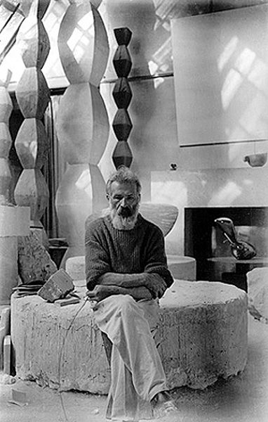 "Brancusi. ""They are imbeciles who call my work abstract. That which they call abstract is the most realistic, because what is real is not the exterior but the idea, the essence of things."" (Constantin Brancusi)"