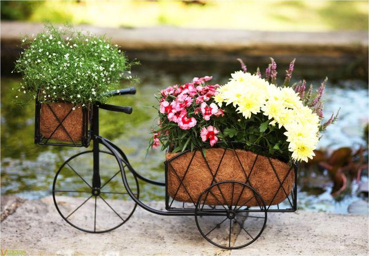 Jardinera Bicicleta Altuna #jardineras #decoracionjardin