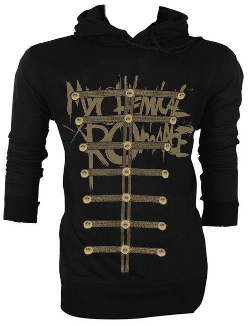 My Chemical Romance Gerard Way MCR Jacket Style The Black Parade Hoodie Jumper