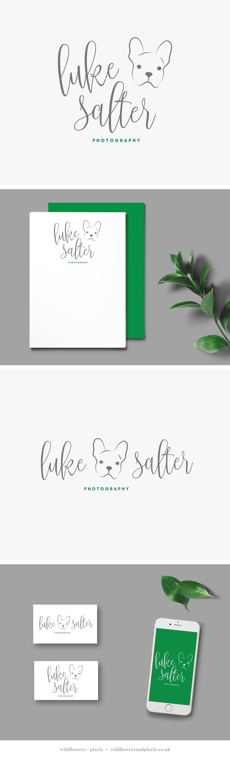 Branding for Luke Salter Photography by Wildflowers & Pixels. Pet photography logo design and branding. via @wildflowerspix