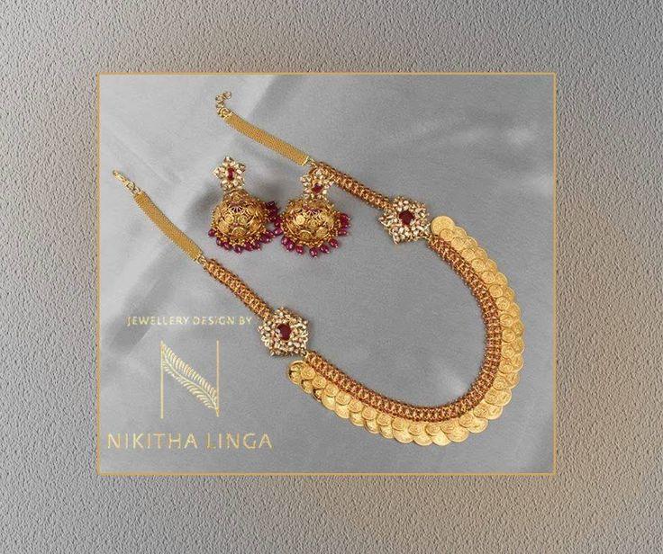 Gorgeous traditional Kasulaperu only at Nikitha Linga !! WeddingCollection Jewellery NikithaLinga 12 September 2016