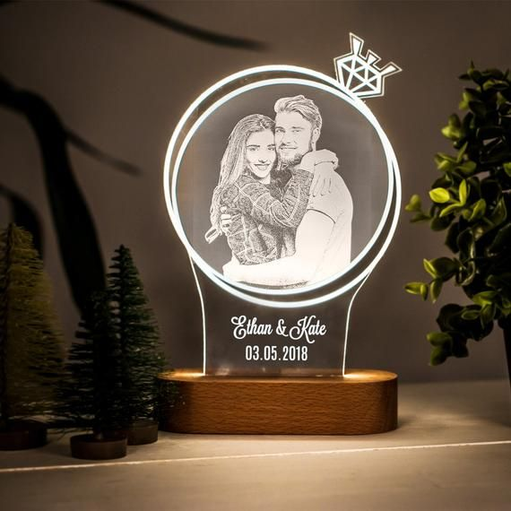 The Light Of Proposal 3d Night Lamp Gift For Lover Custom Acrylic Night Light As Gift For Wife Personalized Lamp As Wedding Gift To Her Regalos Increíbles Regalos Para Niños Lámparas