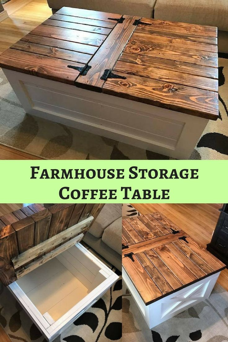 I love this farmhouse storage coffee table, reminds me of furniture you would find on the fixer upper!! It is handmade and you can pick the finish and the size of the table. I love the fact that it has storage, a place to put kids toys or blankets!! It is the perfect addition to any farmhouse inspired living room. #farmhouse #rusticdecor #affiliate #fixerupper #storage