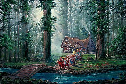 Snow White and the Seven Dwarfs - Morning Walk - Rodel Gonzalez - World-Wide-Art.com - $695.00 #Disney #RodelGonzalez