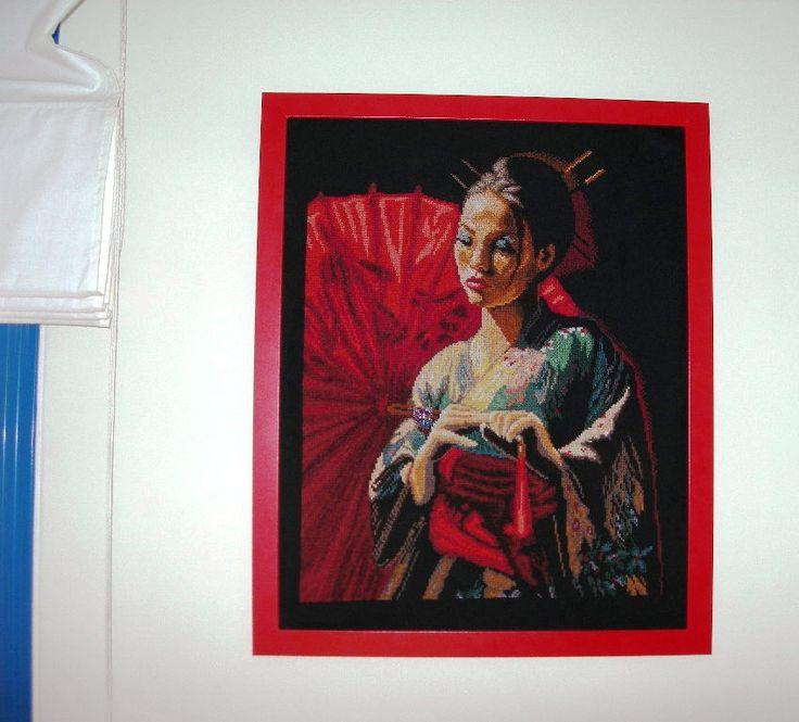 geisha con marco