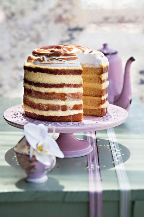 Lemon Meringue Naked Cake