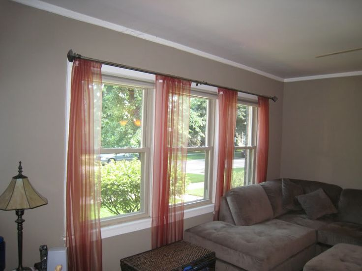 Best 25 large window curtains ideas on pinterest large for Living room picture window ideas
