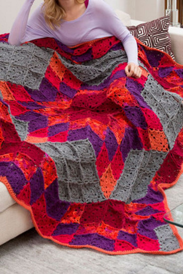 [Video Tutorial] Absolutely Beautiful Crocheted Throw With A Stunning Design