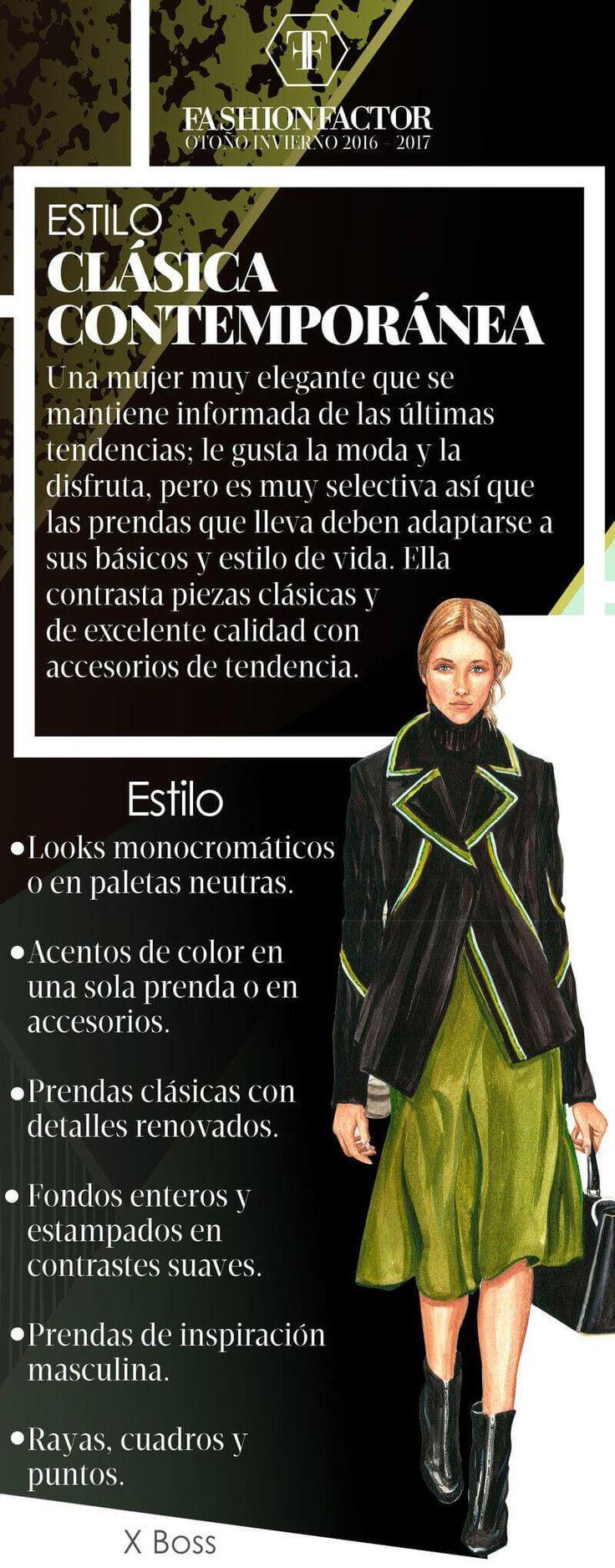 La mujer Clásica Contemporánea es una mezcla entre lo tradicional y la innovación. En Fashion Factor te enseñamos como llevar este estilo.