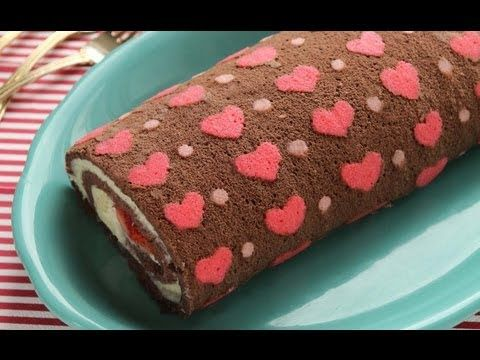 How to Make Patterned Cake Roll-Chocolate Cake Roll filled with Whipped Ganache Recipe