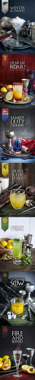 """Game of Thrones Drinks - EU NÃO BEBO, MAS ACHEI TÃO ELEGANTE ESSES """"DRINKS"""", QUE NÃO RESISTI E ESTOU COLOCANDO AQUI COMO INSPIRAÇÃO PARA OS APRECIADORES DELES E DE GAME OF THRONES...TCHIN -TCHIN!!!"""