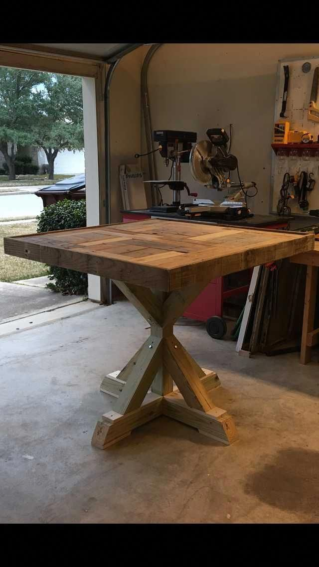 how to build a pallet table with epoxy top imgur buildwoodtable rh pinterest com