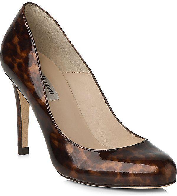 LK BENNETT Stila saffiano court shoes (Mul-tortoise shell