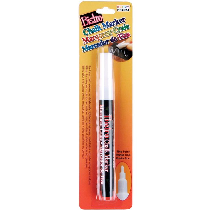 Bistro Chalk Marker Fine Point 1/Pkg-Fluorescent Light BlueChalk Marker Fine Point Fl Green,