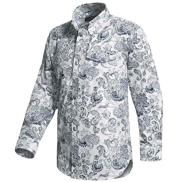 Roper Paisley Print Western Shirt - Long Sleeve (For Tall Men) - Save 55%