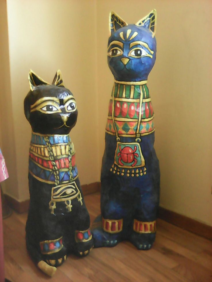 Egyptian cats larger than life