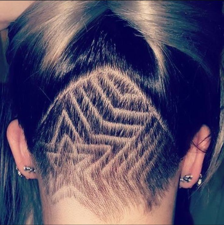 Back undercut designs for girls