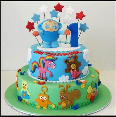 Baby first tv cake birthday parties pinterest for Baby tv birthday decoration