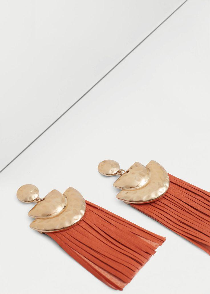 Fringe earrings - Jewellery for Women | MANGO USA
