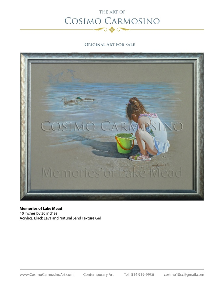 Memories of Lake Mead, Acrylics, Black Lava and Natural Sand Texture