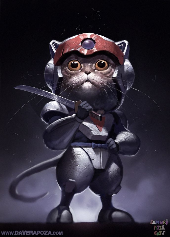 Samurai Pizza Cats by *DavidRapozaArt on deviantART