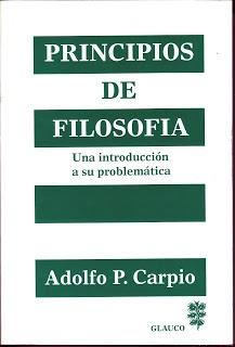 PRINCIPIOS DE FILOSOFÍA - Adolfo P. Carpio