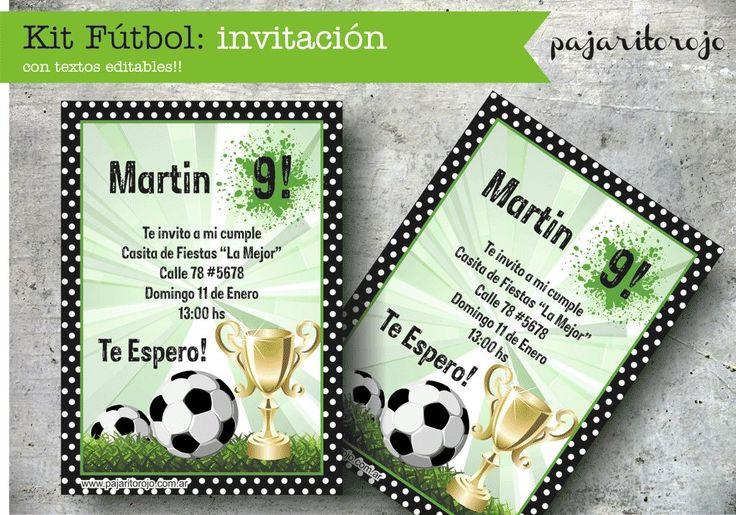 Kit Cumpleaños Futbol - $ 150,00 en MercadoLibre