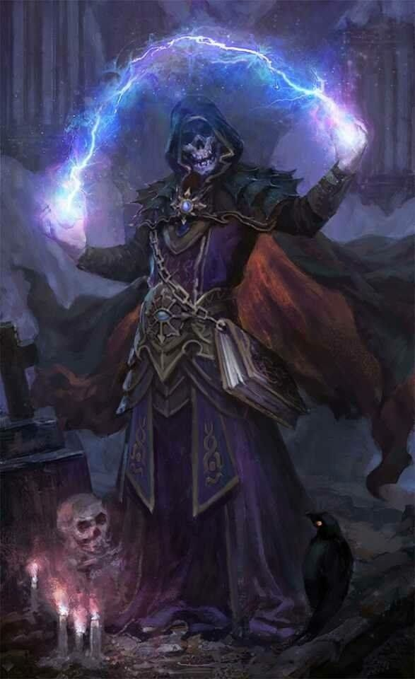 undead skeleton mage spark bolt thunder