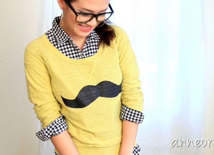 #Movember: DIY moustache t shirt | doe-het-zelf snor T-shirt | Vrouwonline.nl