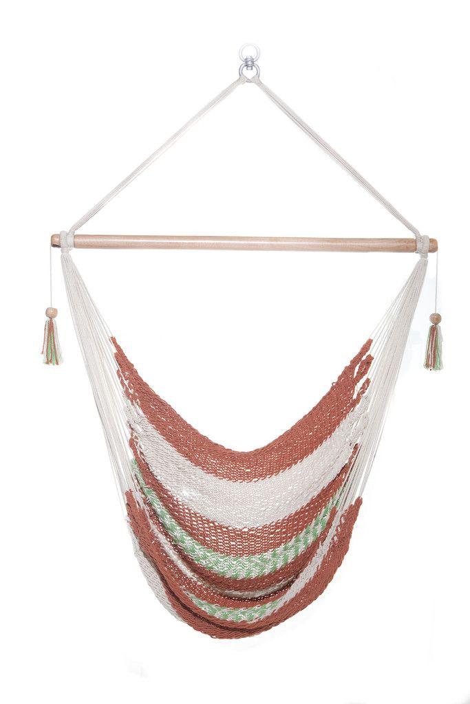Mission Hammocks Ninette Hanging Hammock Chair | Consists of 100% Manila Cotton