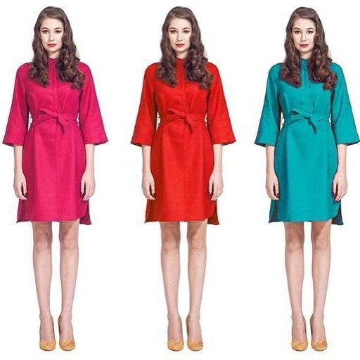 A beautiful 3/4 sleeve linen dress available in multiple colors is sure to keep you cool and chic on a summer night