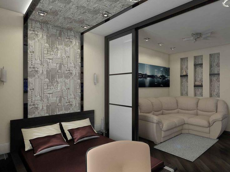 Раздвижные перегородки для зонирования пространства в комнате: фото в интерьере | DomoKed.ru
