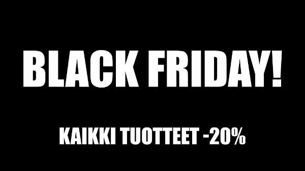 """Tänään on myös Promlerissa Black Friday! Tänä """"mustana perjantaina"""" saat kaikista tilaamistasi tuotteista -20% pois! Tarjous on voimassa vain tänään, 28.11.2014 ja etuutta ei voi yhdistää muihin alennuksiin. Kampanjakoodi: BLACKFRIDAY14.  Mustaa perjantaita ja valoisaa viikonloppua!  www.promler.fi"""