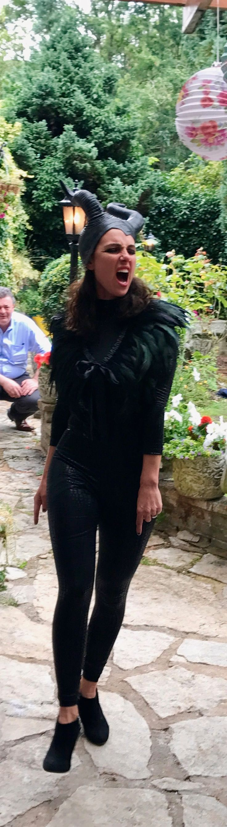 Aleksandra King in Leather Maleficent costume