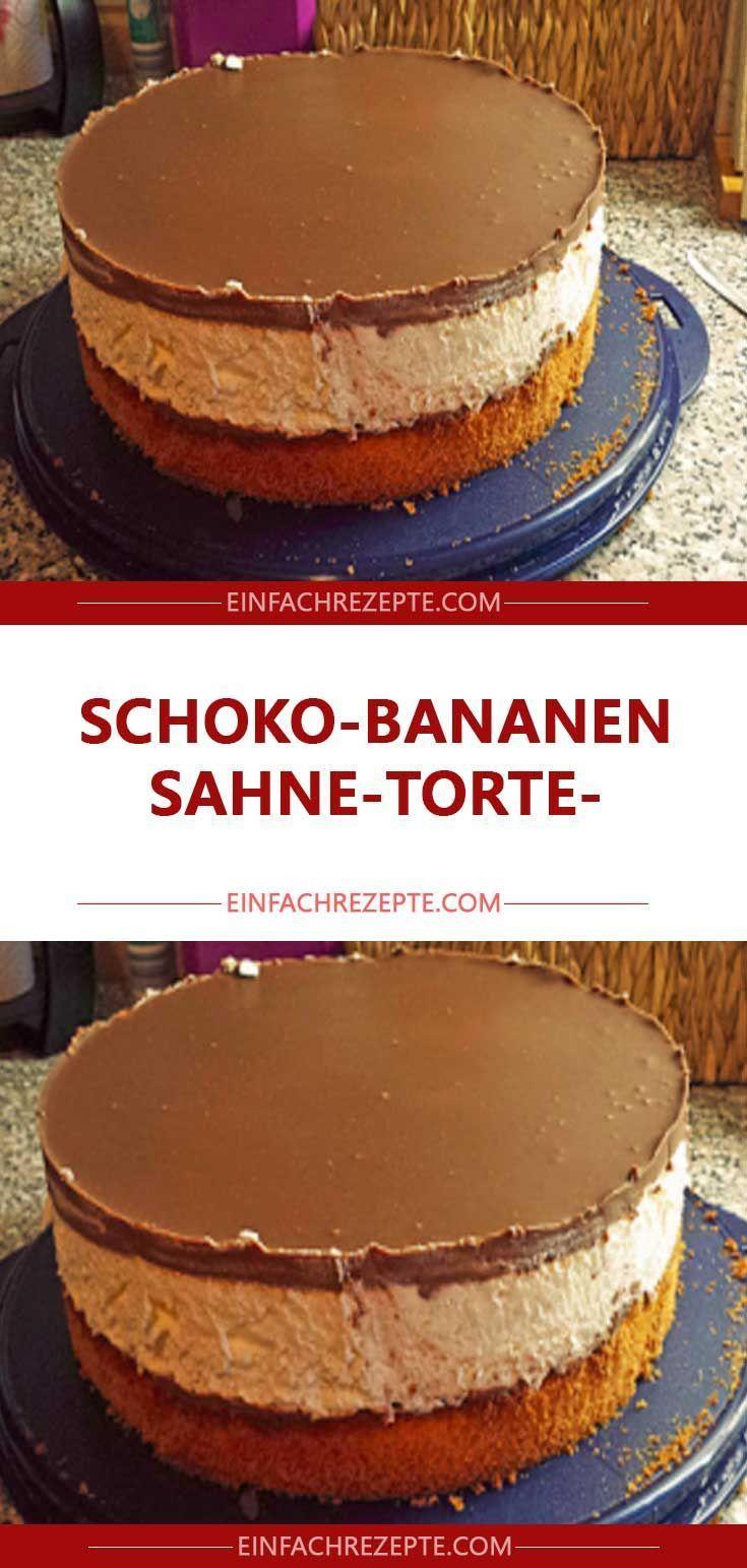 Schoko-Bananen-Sahne-Torte 😍 😍 😍 – Backen – #backen #SchokoBananenSahne… 0a8226f0758b4db53a017062cb49edd1