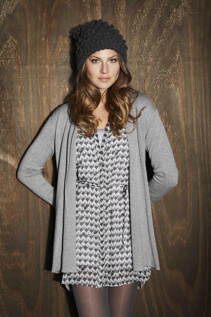 soyaconcept - cardigan - knit - dress - hat