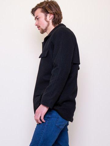 The Abbotsford – #gehrich #theabbotsford #blackwool #mensfashion #coat #winterfashion #lumberjack #raglan #gehrichmelbourne