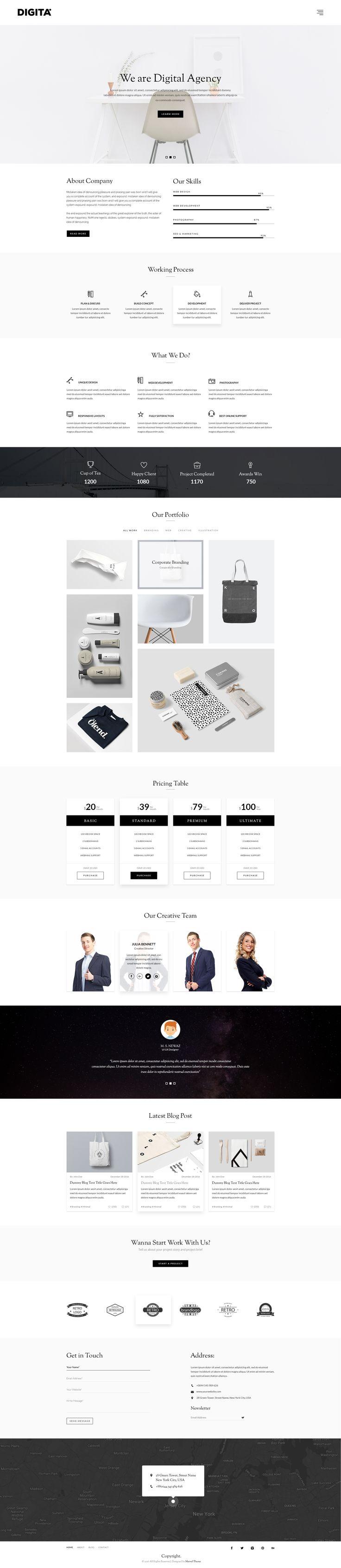 Maxive Multi-Purpose Minimal Agency, Personal, Photography, Portfolio PSD Template by Marvel_Theme