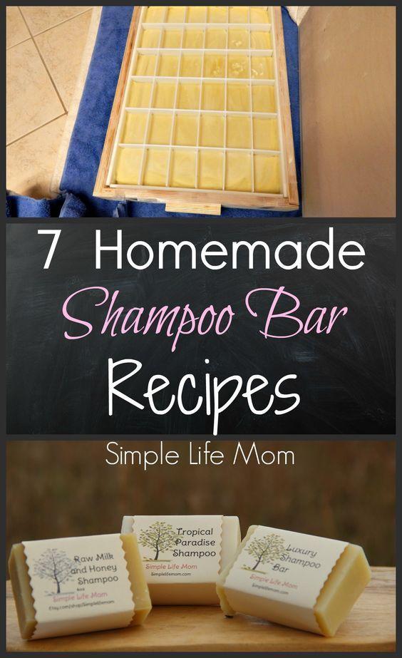 7 Homemade Shampoo Bar Recipes - cold process soap from Simple Life Mom