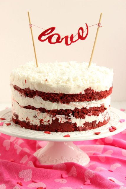 Red Velvet and Coconut Cake come together famously in this epic naked cake mashup.  Perfect for Valentine's Day. | The Suburban Soapbox